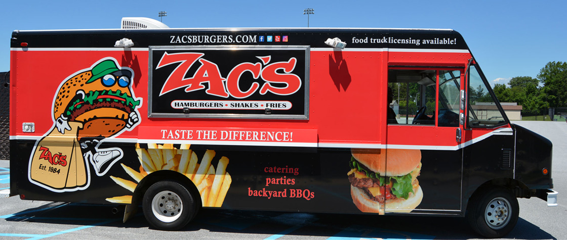Best Burger Food Truck Franchising Licensing Zacs Burgers Pa